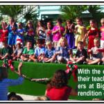 Big Pine Academy kindergarteners sing Jingle Bells
